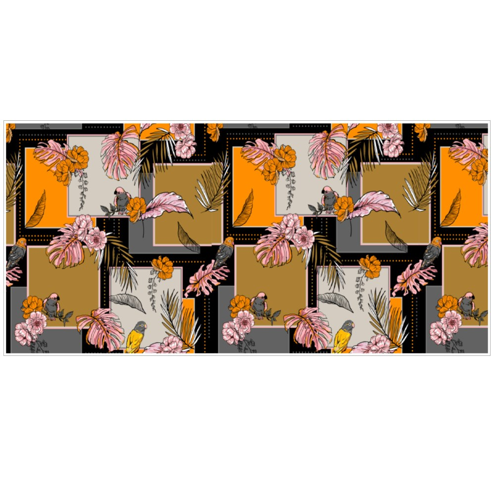 Exotic Tropical Plants and Birds Silk Scarf Pattern Colour Mugs
