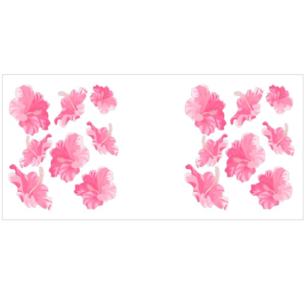Hibiscus Flower Isolated. Exotic Tropical Botanical Vector Flower Colour Mugs