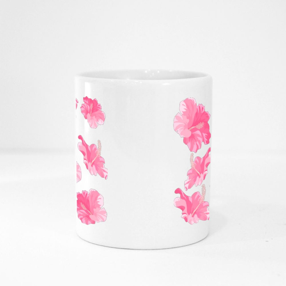 Hibiscus Flower Isolated. Exotic Tropical Botanical Vector Flower Magic Mugs