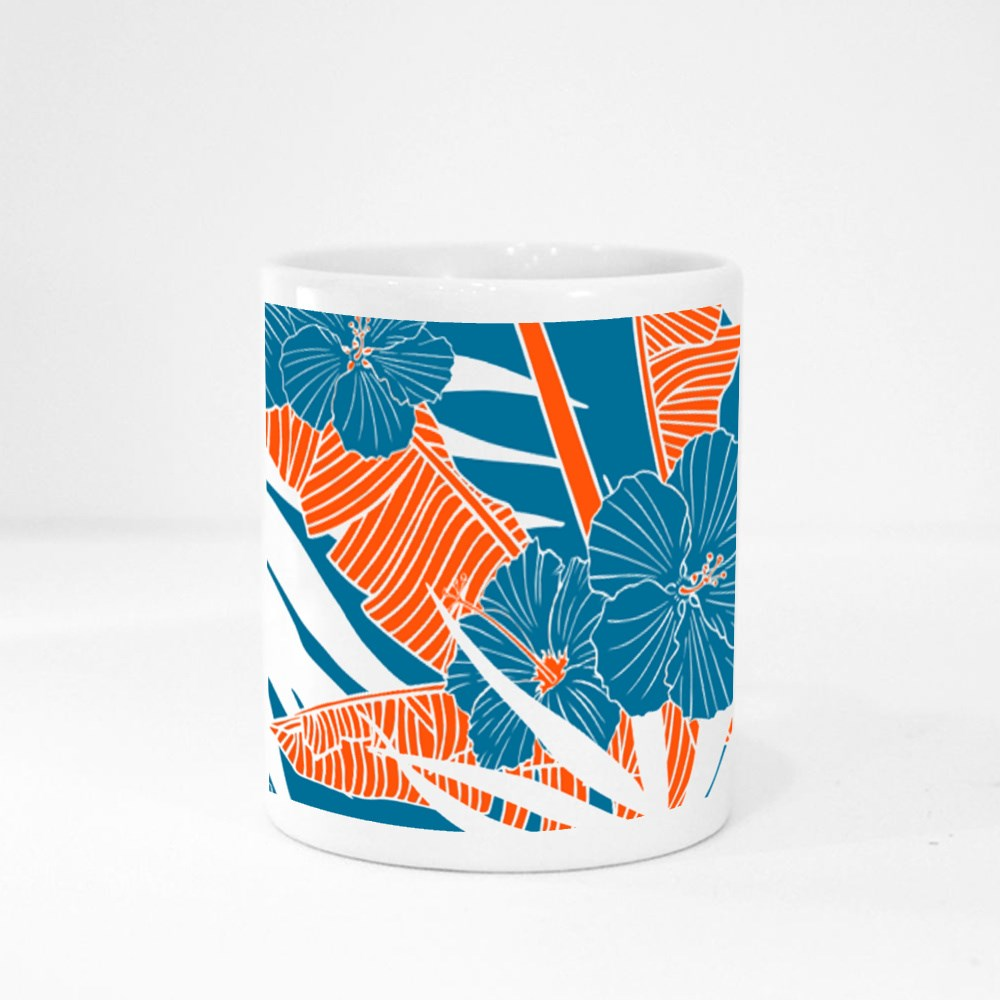 Palm Leaves and Hibiscus Flowers Magic Mugs