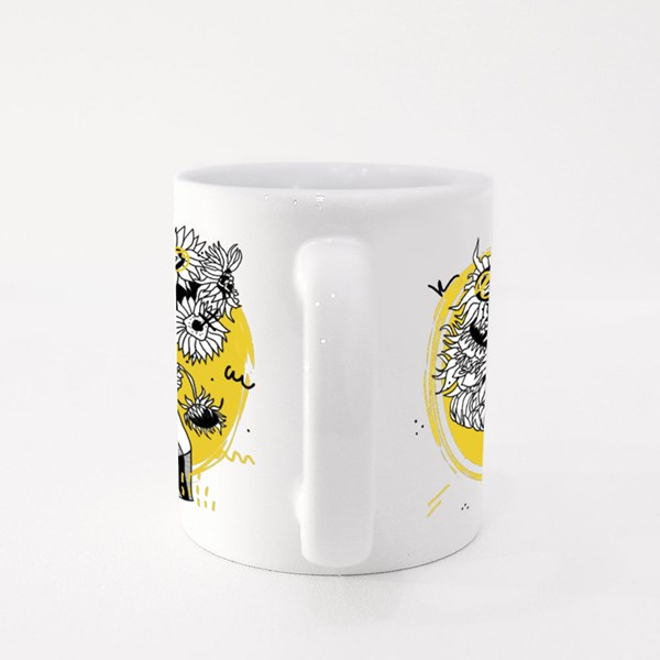 Sunflowers by Vincent Van Gogh. Creative Geometric Style. Colour Mugs