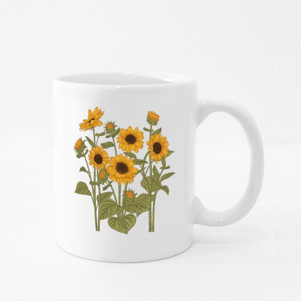 Sketch Floral Botany Collection Colour Mugs