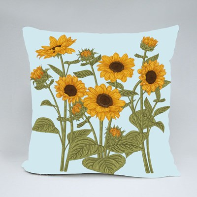 Sketch Floral Botany Collection Throw Pillows