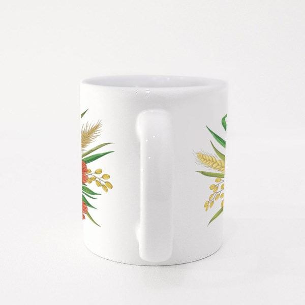 Collection Decorative Floral Design Elements Colour Mugs