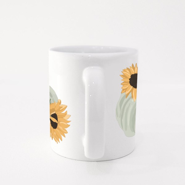Sunflower and Pumpkin Colour Mugs