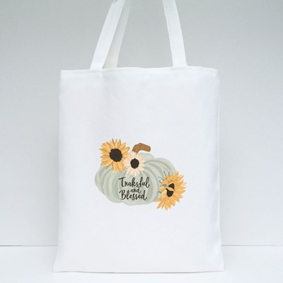Sunflower and Pumpkin Tote Bags