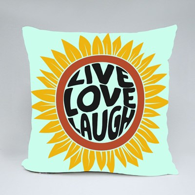 Drawing of Sunflower in Retro Style Throw Pillows