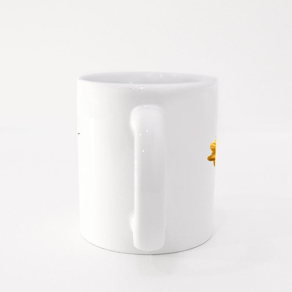 Cool Slogan With Sunflowers and Palms Leaf Illustration Colour Mugs