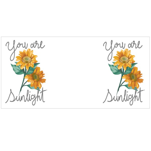 You Are Sunlight Slogan With Sunflowers Illustration Colour Mugs