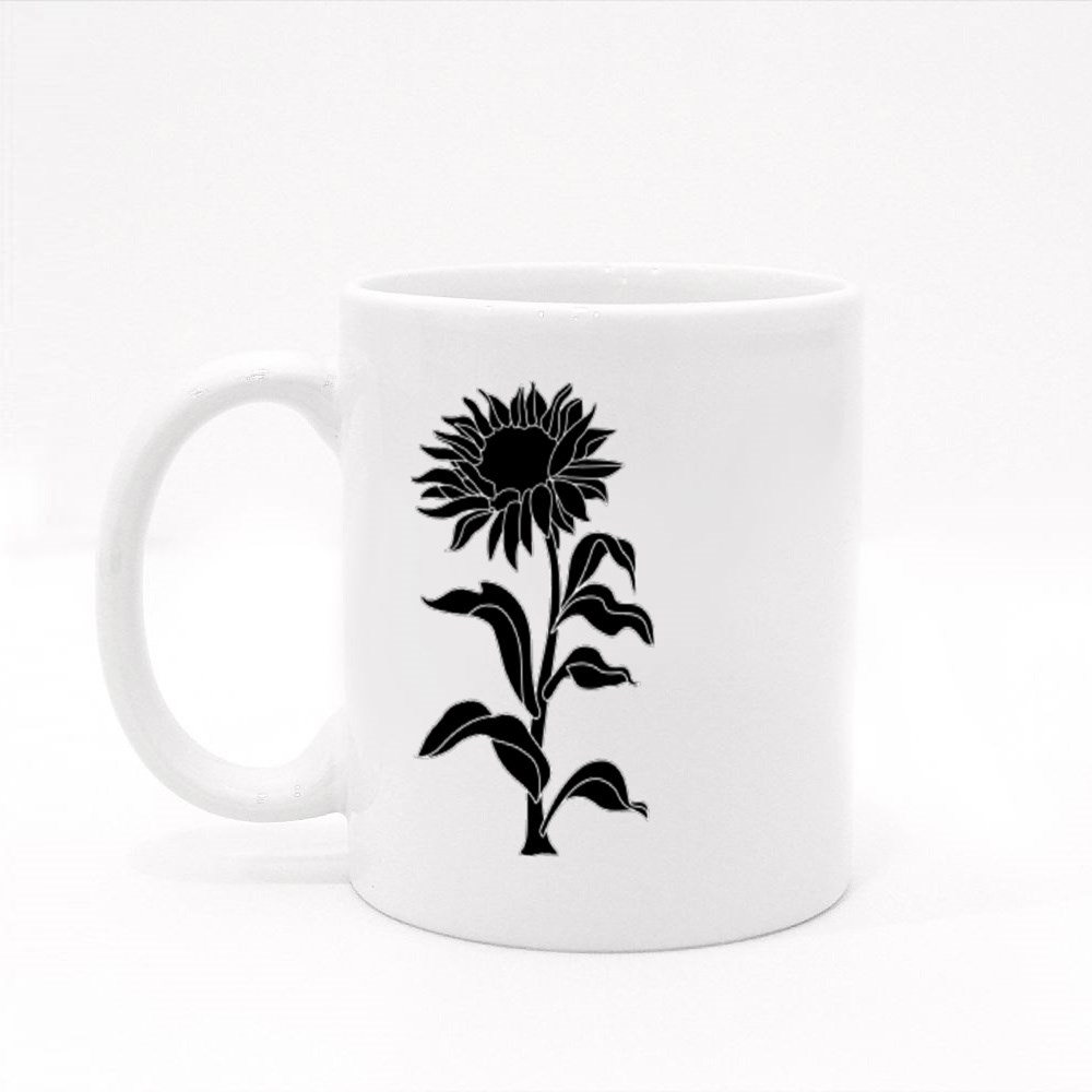 Sunflower and  Plant Colour Mugs