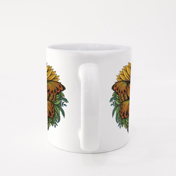 Sunflower Butterfly Vector Illustration for Your Company or Brand Colour Mugs