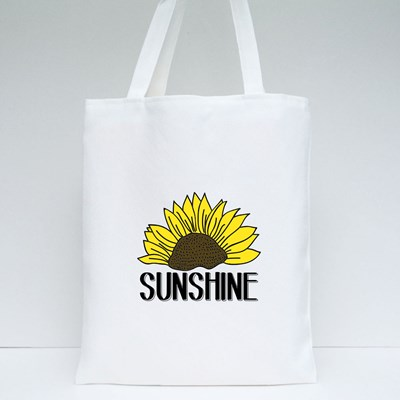 Illustration of a Sunflower Vector, Slogan Print Tote Bags