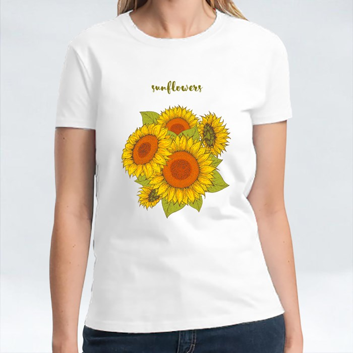 Sunflower Hand Drawn Collection T-Shirts