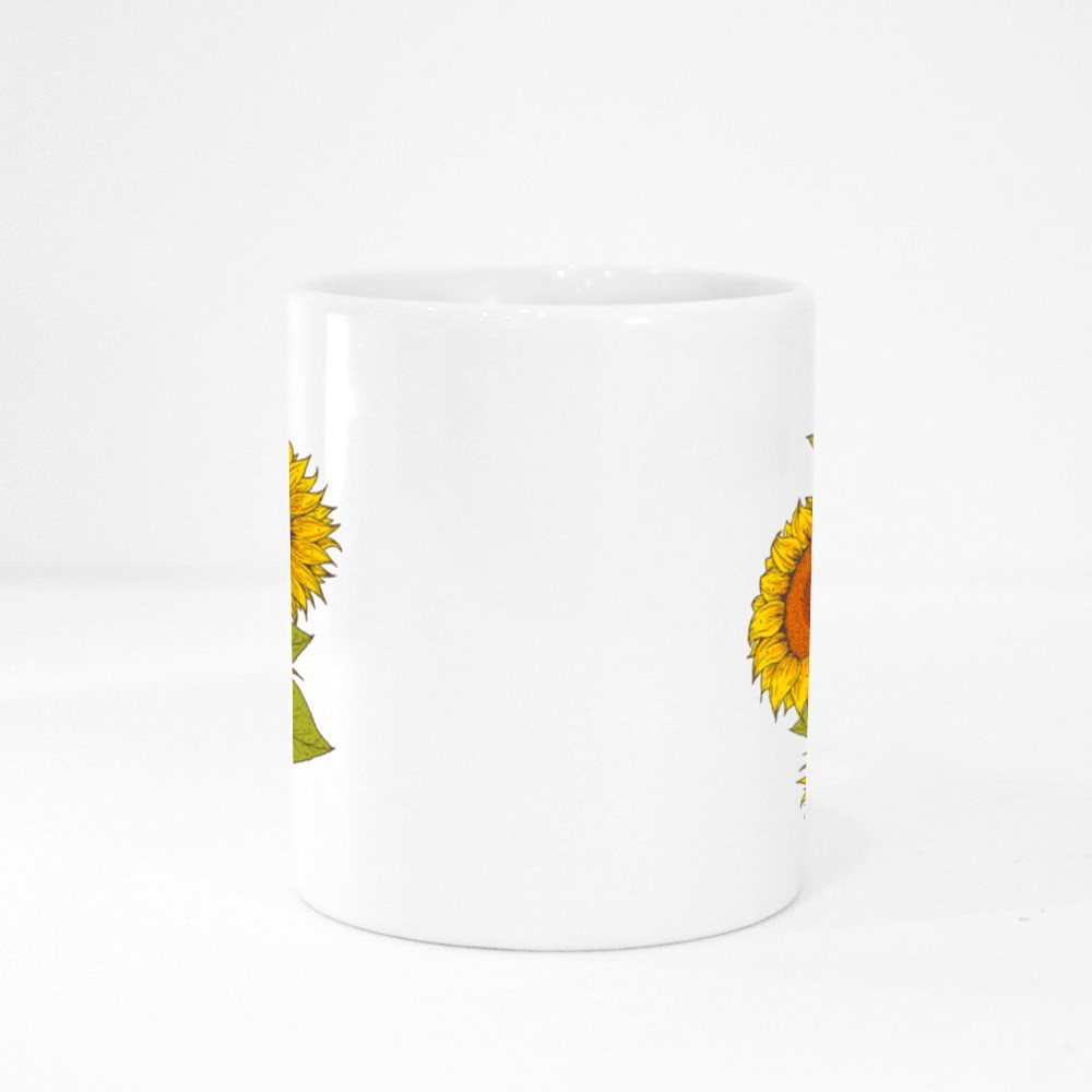 Sunflower Hand Drawn Collection Colour Mugs