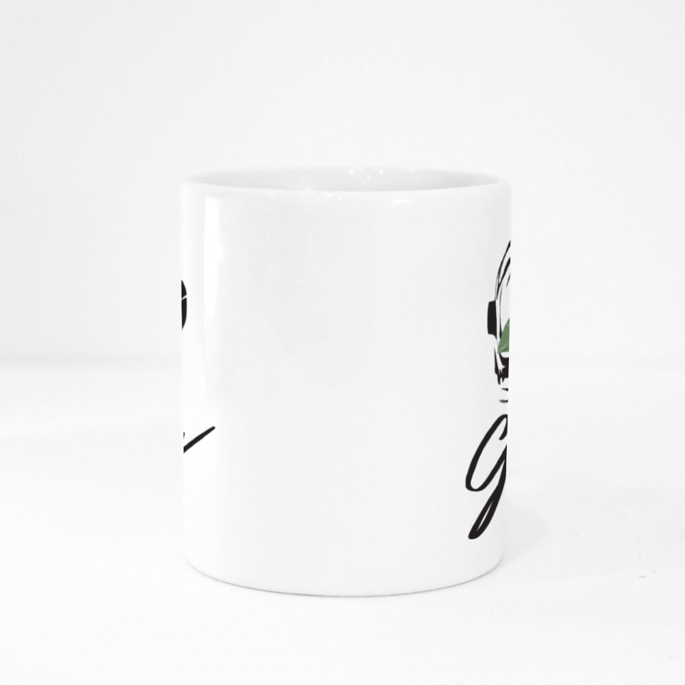 Galaxy Slogan With Sunflower in Astronaut Helmet on Black Background Colour Mugs
