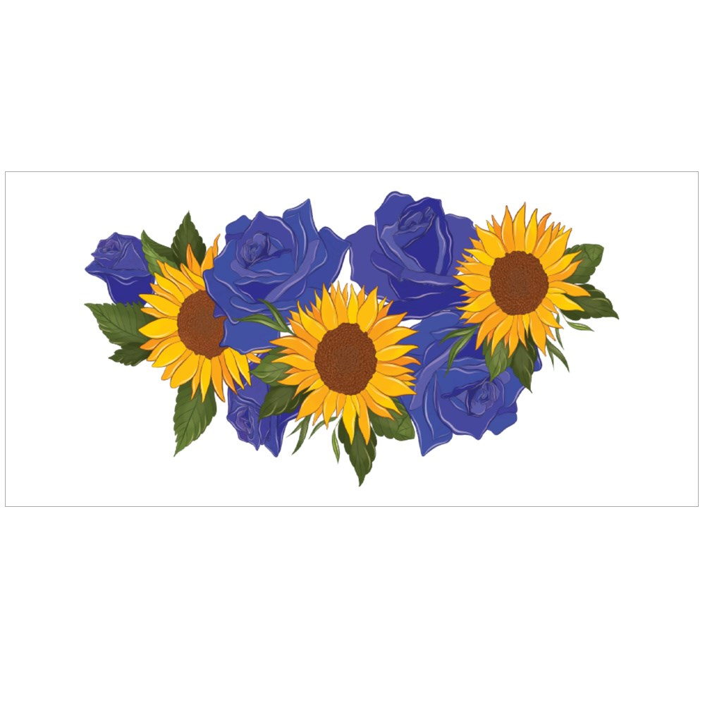 Yellow Sunflowers and Blue Roses Colour Mugs