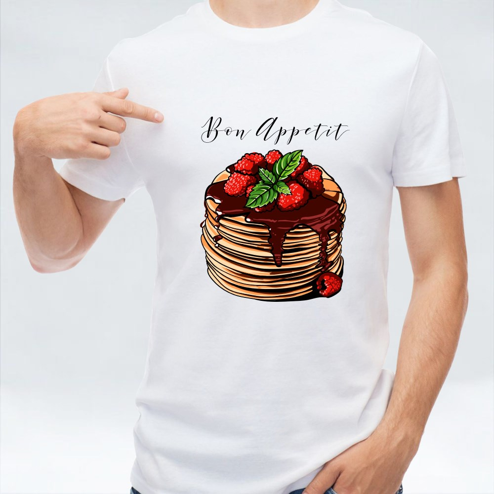 Vector Pancake Breakfast Cafes T-Shirts