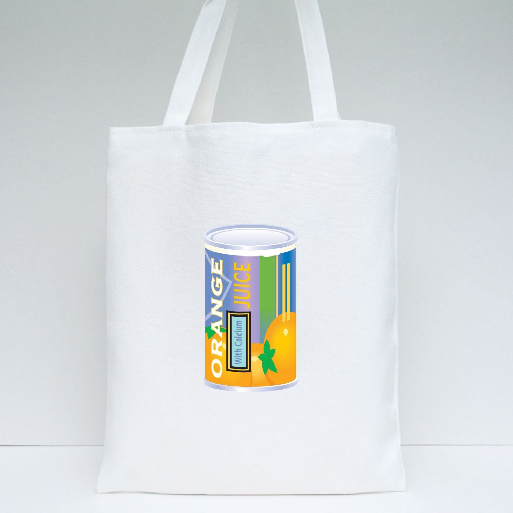 Can of Generic Orange Juice Concentrate, Vector Illustration Tote Bags
