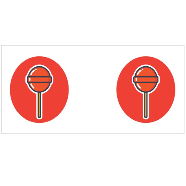 Yummy and Delicious Lollipop Vector Design for Icon, Symbol, and Logo Colour Mugs