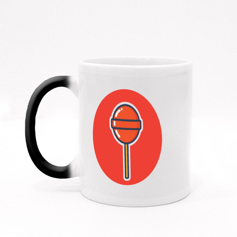 Yummy and Delicious Lollipop Vector Design for Icon, Symbol, and Logo Magic Mugs
