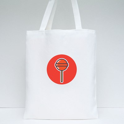 Yummy and Delicious Lollipop Vector Design for Icon, Symbol, and Logo Tote Bags