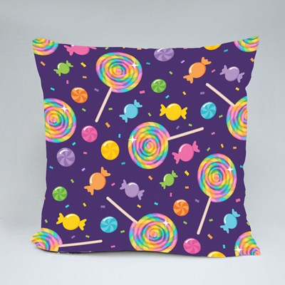 Rainbow Swirl Lollipops and Candy Throw Pillows
