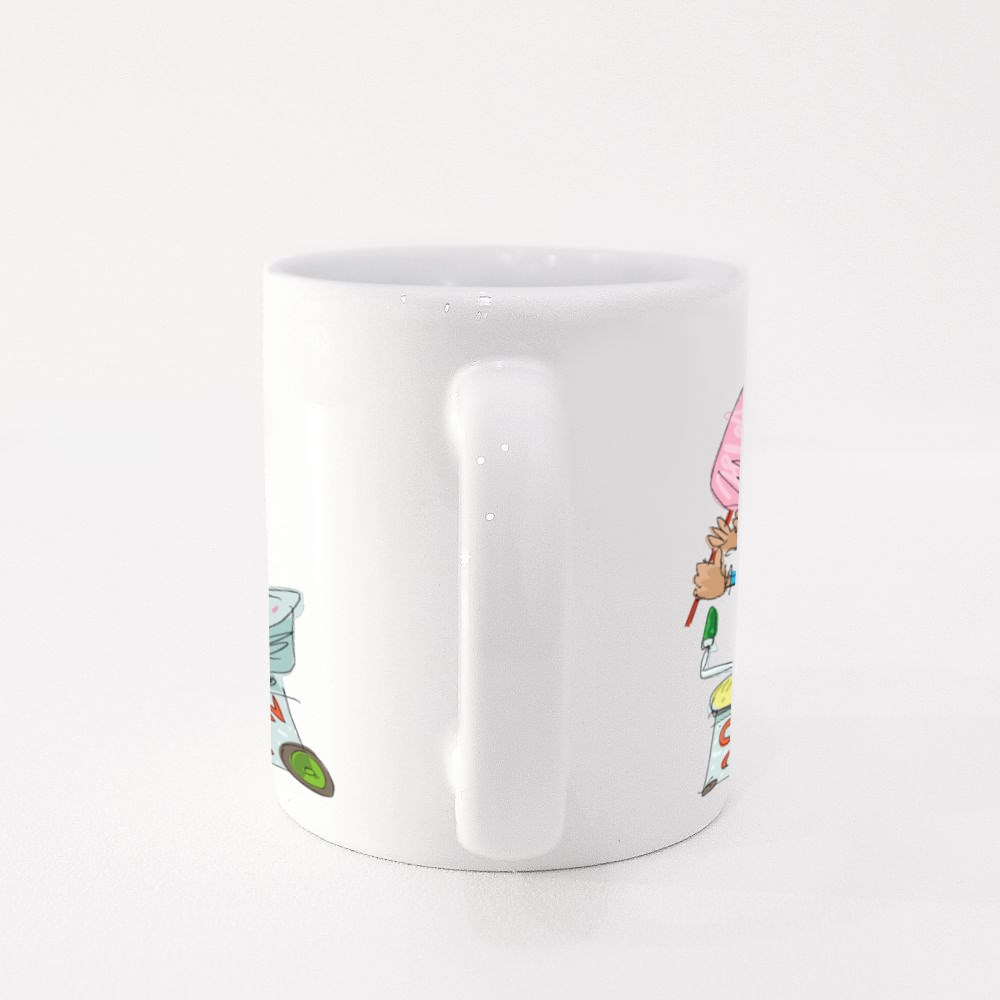 Indian Street Cotton Candy Colour Mugs