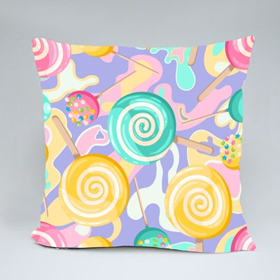 Candy on a Stick for Kids Throw Pillows