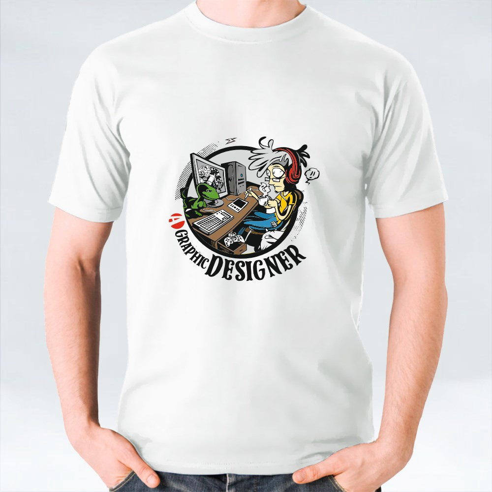 Graphic Designers Working at Desk T-Shirts