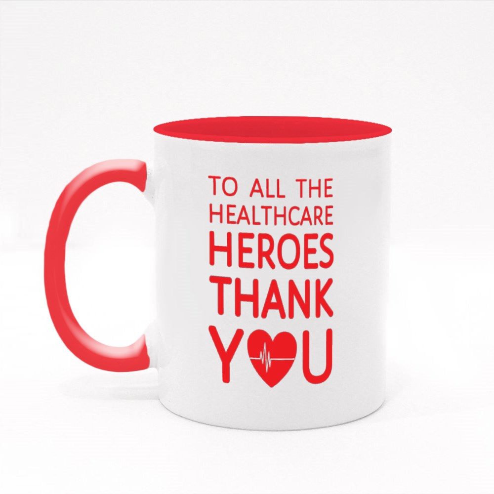Thank You to All Healthcare Heroes Colour Mugs