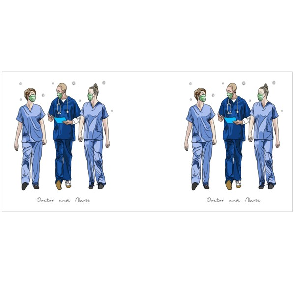 Doctor and Nurse Fighting Covid-19 Colour Mugs