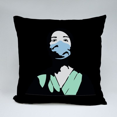 Hospital Worker During Covid 19 Throw Pillows