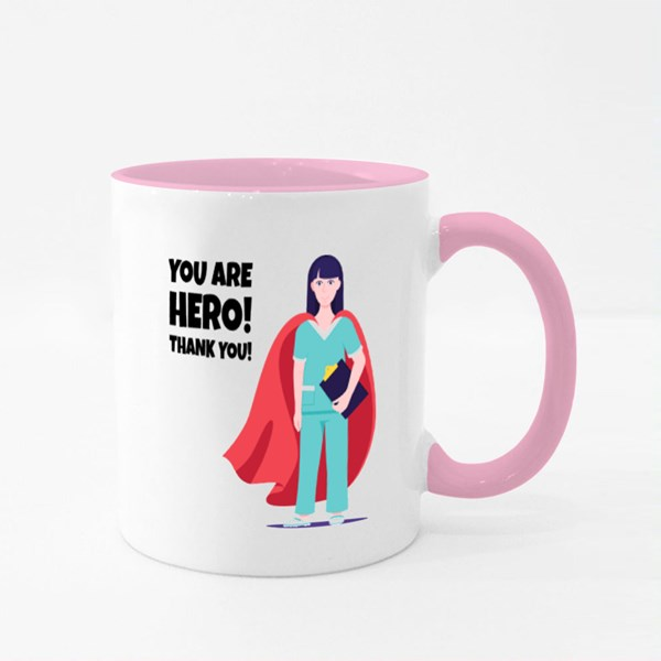 You Are Hero! Thank You! Colour Mugs