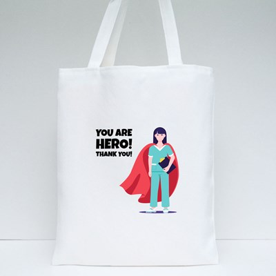 You Are Hero! Thank You! Tote Bags