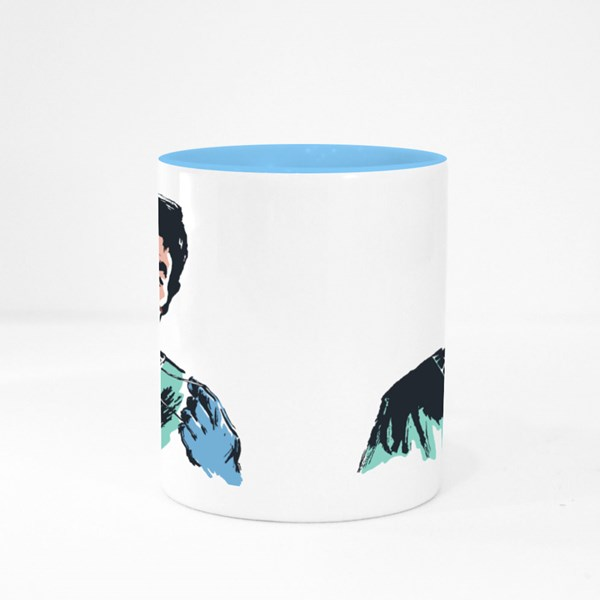 Hand Drawn Portrait of Doctor Colour Mugs