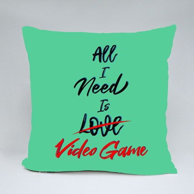 All I Need Is Love Video Game Throw Pillows