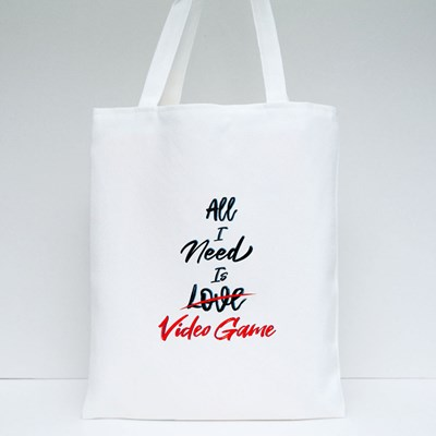 All I Need Is Love Video Game Tote Bags
