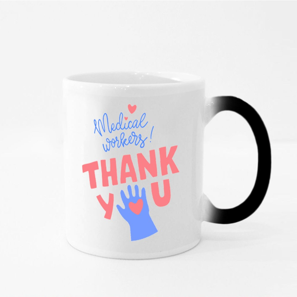 Gratitude Message for Medical Workers Magic Mugs