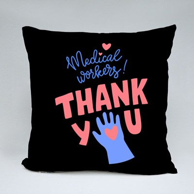 Gratitude Message for Medical Workers Throw Pillows