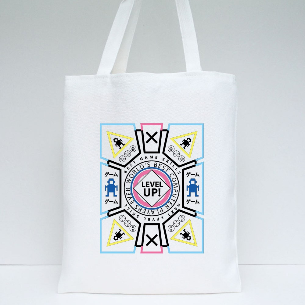 Level Up Game Theme Tote Bags