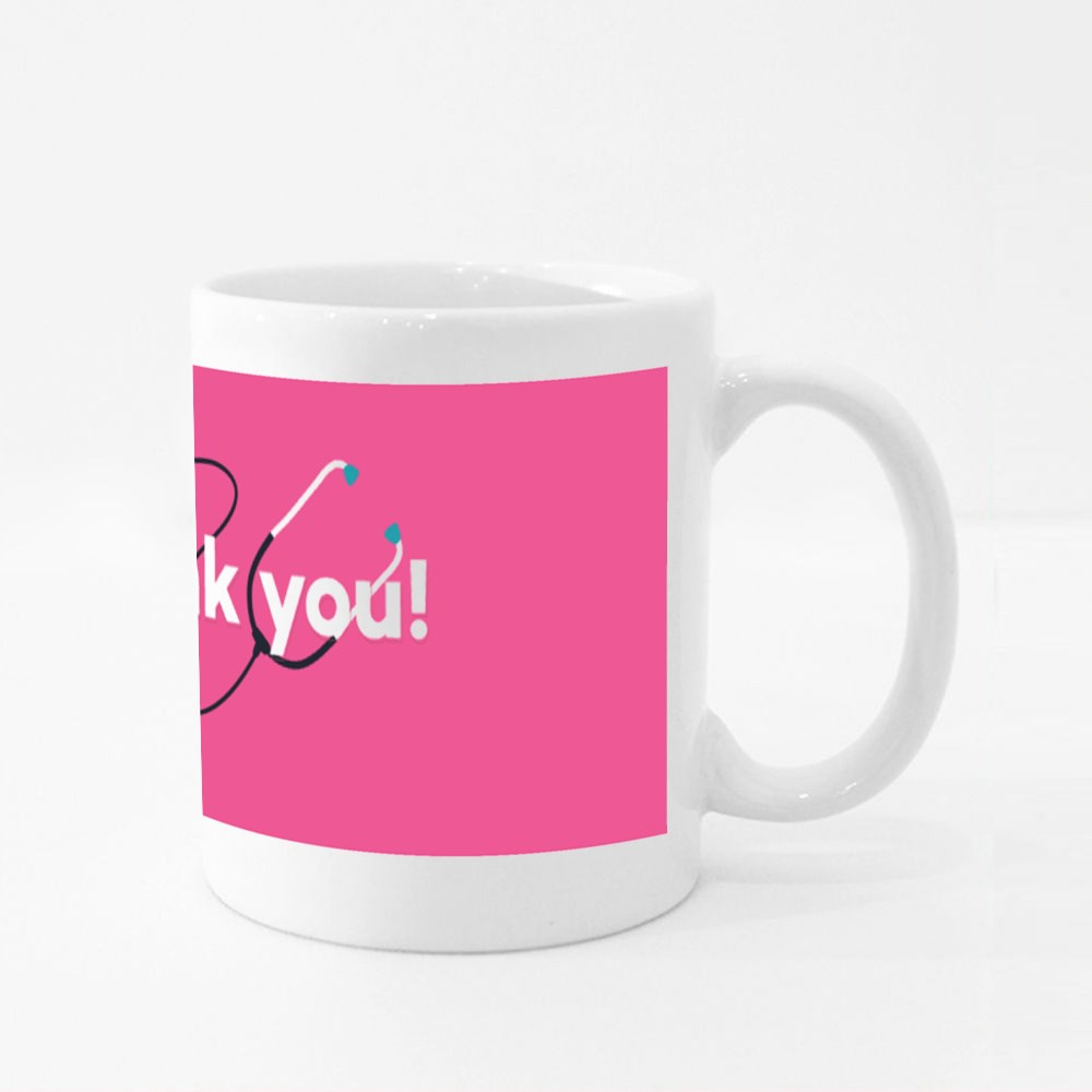 Thank You Doctors and Nurses, Medical Staff Colour Mugs