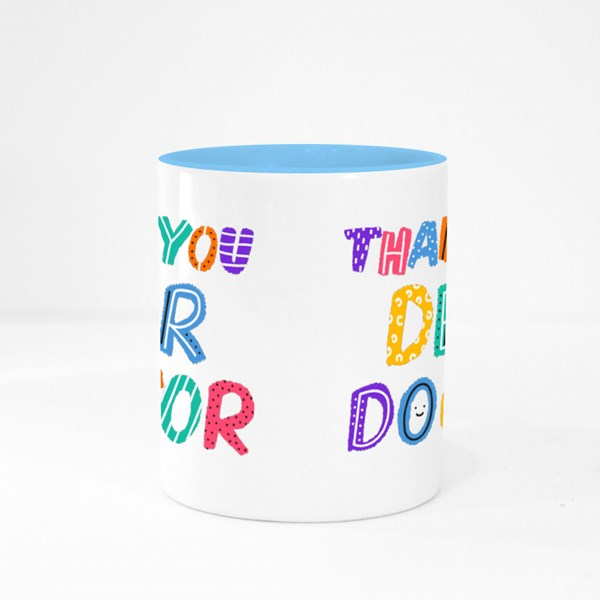 Thank You Dear Doctor Colour Mugs