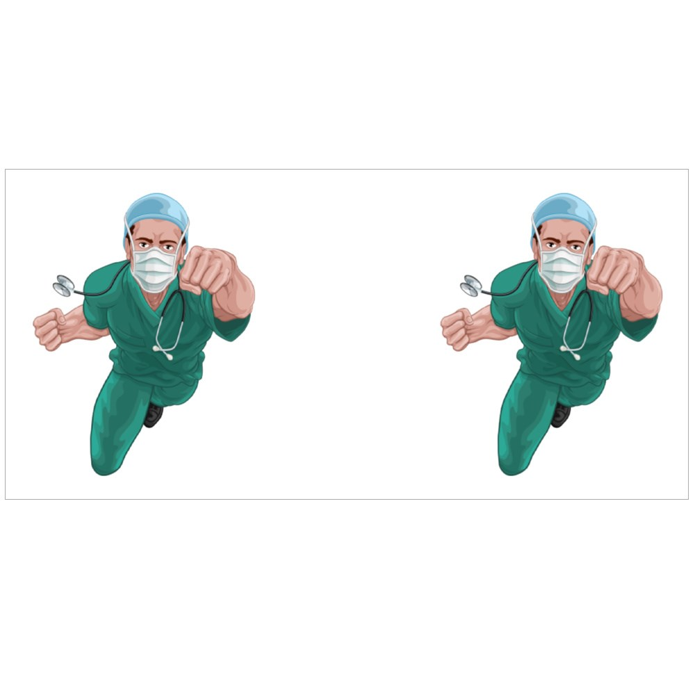 Doctor Super Hero in Surgical Uniform Colour Mugs