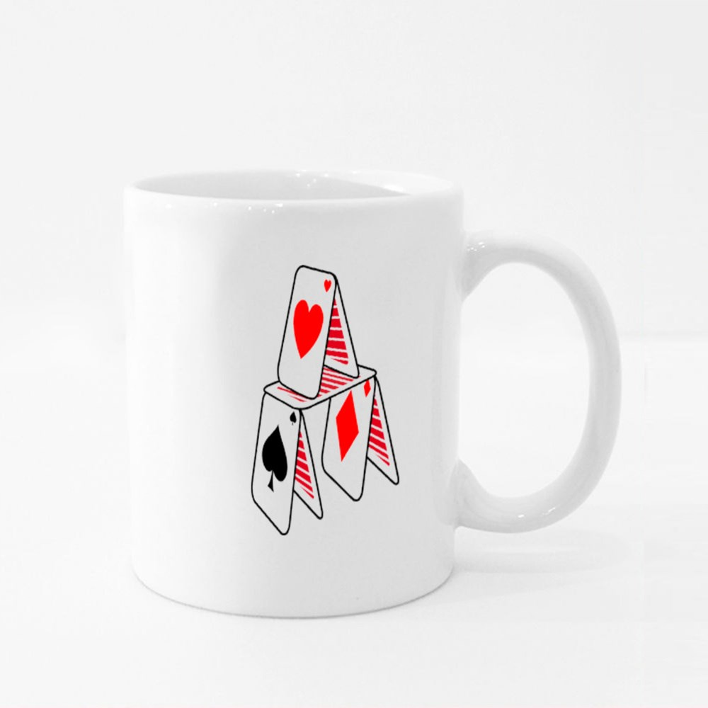 Home Made With Poker Cards Colour Mugs