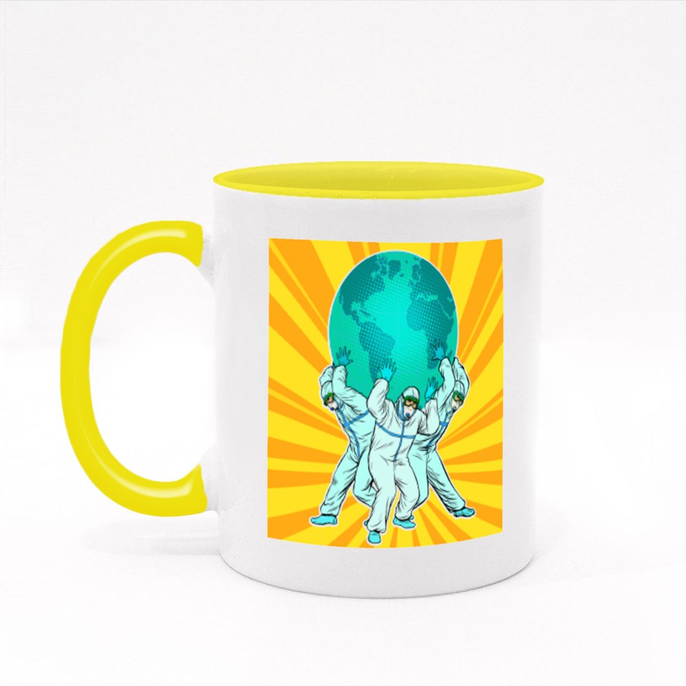 The Concept of the Heroism of Doctors Colour Mugs