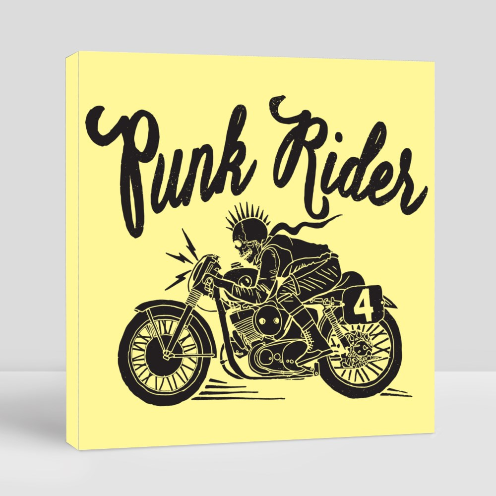 Punk Rider With Black and White Canvas (Square)