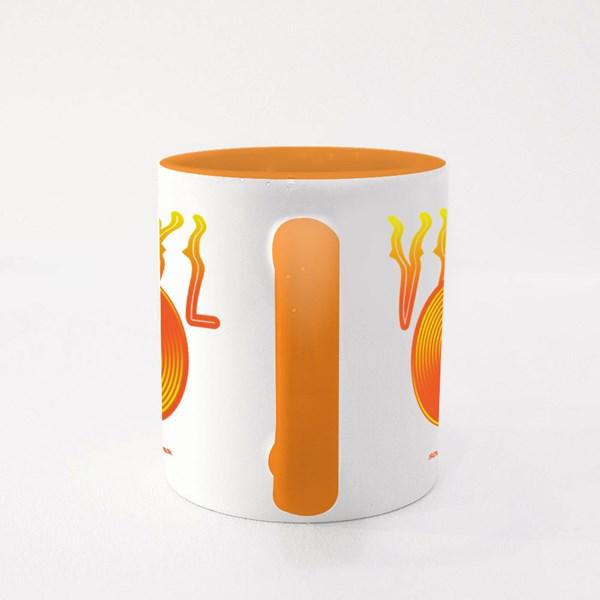 Vinyl Record in Orange Colour Mugs
