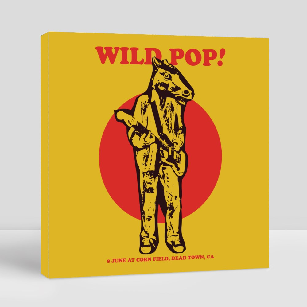 Wild Pop Gig Poster Flyer Template Canvas (Square)