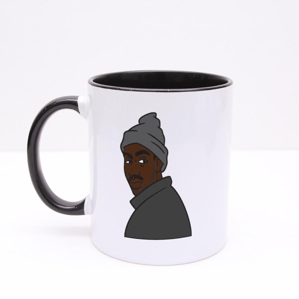 Cool Rapper Looking Over Shoulder Colour Mugs