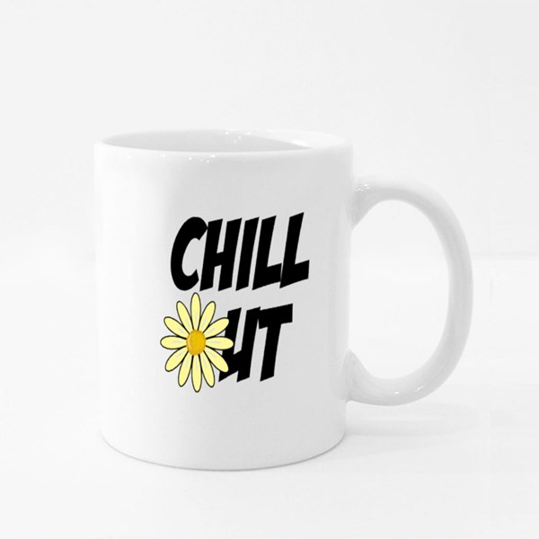 Chill Out Daisy Flower Daisy Flower Colour Mugs